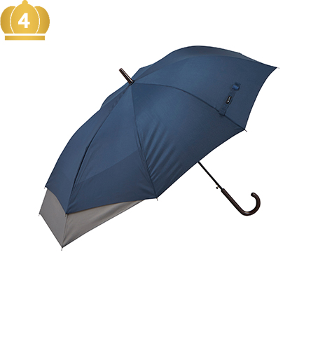NO.25870 60cmBJ 伸びる傘 無地 [COLOR]ブラック×グレー・ネイビー×グレー・ブラック×ブラウン・ネイビー×カーキ